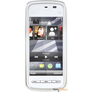 Nokia 5230 Navi White Chrome